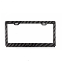 Modern And Stylish Carbon Fiber License Plate Frames