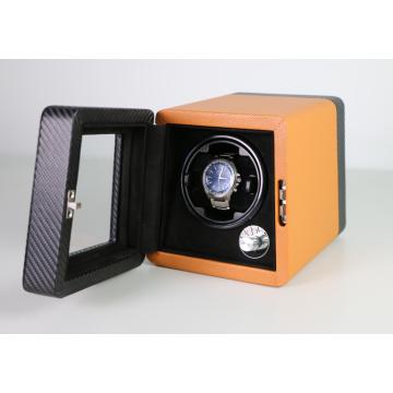 Boîtier de remontoir pour montre unique en cuir microfibre