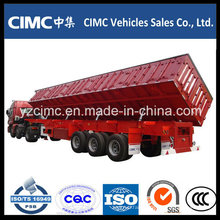 Cimc 3 Axles Side Tipping Dumping Trailer