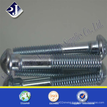 Track Bolt (zinc plated) with Round Head Oval Neck