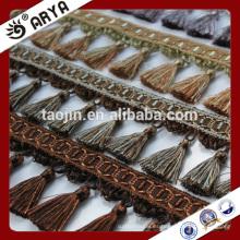 2016 Venta de productos de archivo baratos para la almohadilla de la cortina del sofá de la franja decorativa de la borla de la cortina