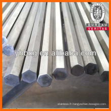 Bar lumineux de hexagonale en acier inoxydable de qualité supérieure