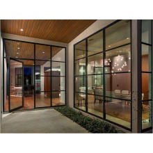 Железные французские двери современного дизайна с закаленным стеклом