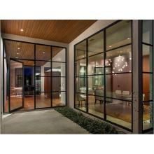 Modernes Design Eisen Französisch Türen mit gehärtetem Glas