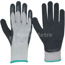 NMSAFETY winter use 7 gauge nappy acrylic liner coated black foam latex winter work gloves