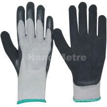 NMSAFETY inverno usar 7 calibre fralda acrílico forro revestido de espuma de látex preto luvas de trabalho de inverno