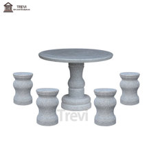 New Design Hand Craved Marble Stone Table and Chair for Home and Office