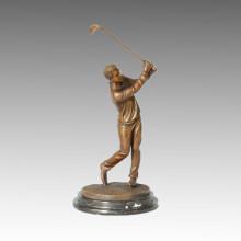 Statue sportive Concurrent de golf Sculpture en bronze, Milo TPE-221