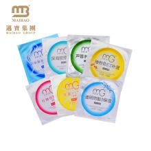 Guangzhou High Barrier Custom impreso en forma de sello térmico bolsa de papel de aluminio empaquetado embalaje de la máscara facial