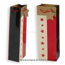 New Product Popular High Quality Twist Kraft Paper Wine Bag