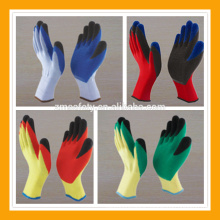 10Gauge Polycotton Latex Gripper Gloves Double Dipping Finger Latex Gloves