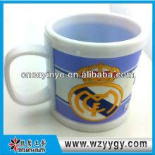 Caneca de publicidade Real Madrid clube de futebol com tampa de pvc