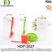 Nuevos populares ensaladas con aderezo de copa y tenedor (HDP-2027)