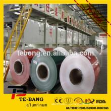 China 1070 3003 3105 5083 bobina de aluminio y bobina de aluminio revestida de color usada para la decoración