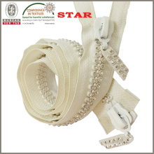 10# Double Line A Grade Two Way Crystal Zippers