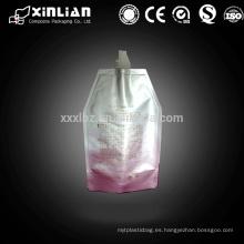 Bolsa de papel aluminio de calidad alimenticia con boquilla