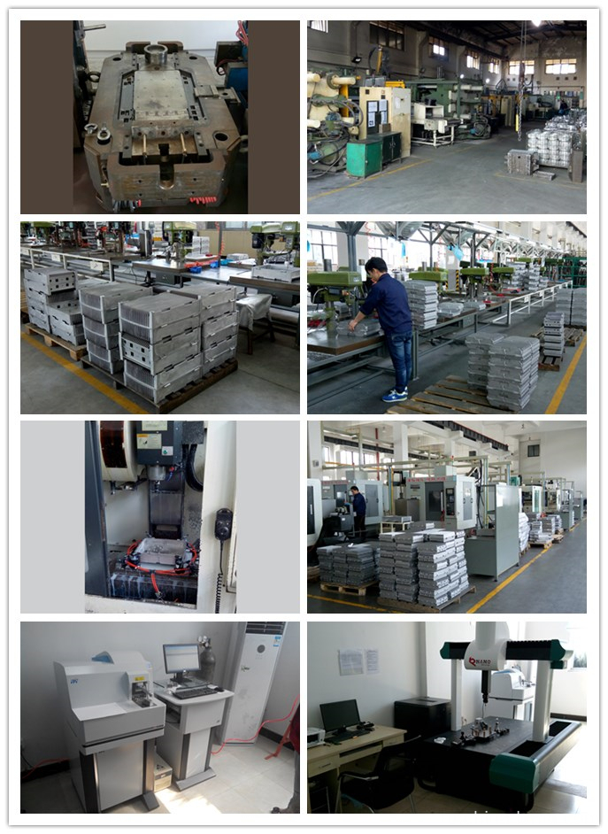 Production of aluminum die casting repeater box