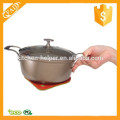 High Quality BPA Free Silicone Pan Frying Pan Pot Insulation Mat Placement