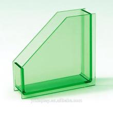 Titulaire de livre et de papier acrylique vert