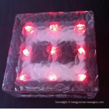 Lumière solaire de brique de glace de LED avec du CE RoHS