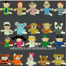 Animal Human Finger Puppet Set Kindergarten Products