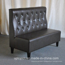 Wholesale Upscale Black Leather Uphostery Booth Sofa (SP-KS304)