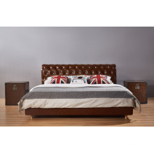 French Style Leather Bedroom Bed, Modern Bed (B002)
