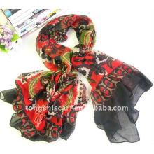 Цветочный печать квадратный шарф для ношения на шее по лучшей цене