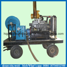 Équipement de nettoyage d'égout à haute pression de tuyau de vidange diesel