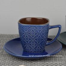 Tasse de grès émaillé de couleur adaptée aux besoins du client