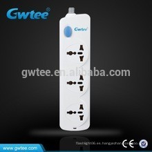 Enchufe de pared del enchufe eléctrico universal del enchufe de 3 vías del alibaba