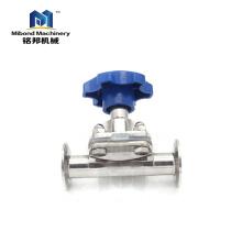 Fabricantes de China Válvula de diafragma de válvula neumática de control manual / neumática de acero inoxidable 316L completamente equipada