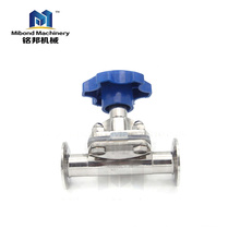 China manufacturers Fully Stocked Sanitary 316L Stainless Steel Manual/ Pneumatic control valve Diaphragm Valve