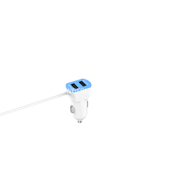24W 2 USB Chargeur Avec Cable Car Charger