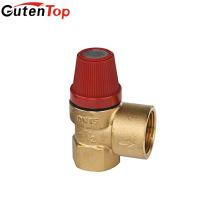 Válvula de alívio de pressão de válvula de segurança de latão Gutentop para caldeira