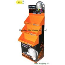 Suporte de chão de papelão para caixa de tinta, Suporte de exposição de papelão com SGS (B & C-A001)