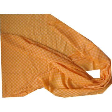 Kaschmir Schach Plaid Dünn Schal Orange
