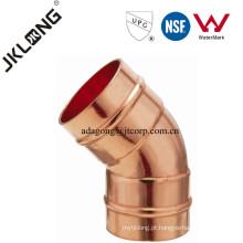 J9306 Conexão de cobre, cotovelo de cobre de 45 graus CxC, CxF