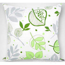 """Leaf Printed Decorative Personalized Pillow Case / Covers 16"""" X 16"""" With Invisible Zippered"""