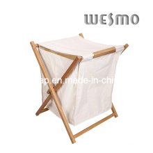 Carbonized Bamboo Laundry Basket (WWR0501A)