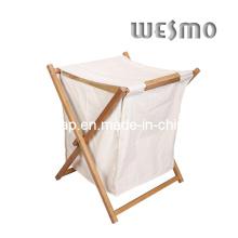 Cesta de lavanderia de bambu carbonizado (WWR0501A)