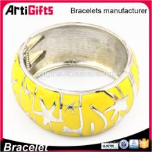 Brazalete de la pulsera del esmalte de la vitalidad del metal del diseño de encargo