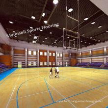 China Factory vendu PVC Sports Roll / Interlock Floor for Basketball
