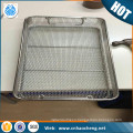 Medical wire mesh instrument sterilization tray / container