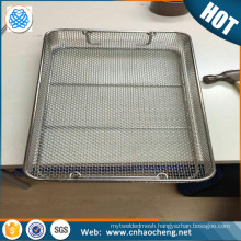 Stainless steel Wire Mesh Instrument Sterilization Trays basket