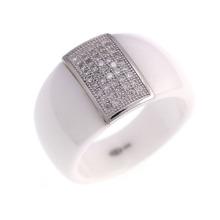 925 prata esterlina jóias anel de casamento (R21054)