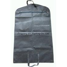 Nonwoven-Reißverschluss-Anzugsbezug-Bekleidungs-Beutel mit freien PVC-Taschen