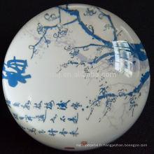 Presse-papiers en verre de cristal de forme de dôme de style chinois