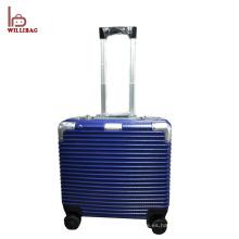 Equipaje de aluminio para cabina Maleta de equipaje TSA Laptop Maleta de viaje interior