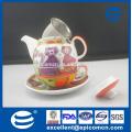 Fabricant en gros de motifs de dessin animé céramique porcelaine thé à une personne réglé en un